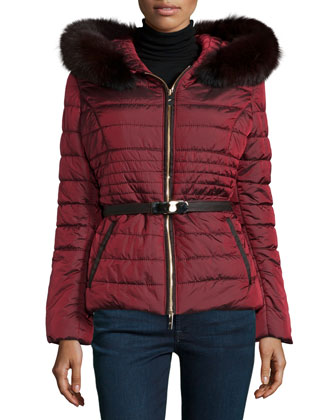 Fur-Hood Down-Fill Jacket