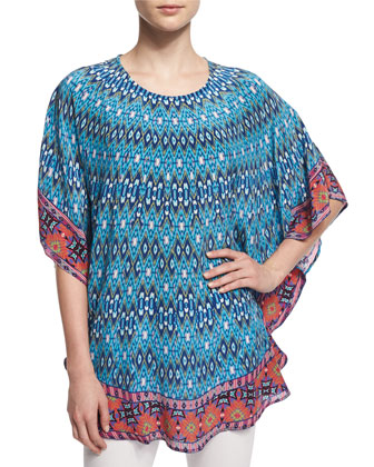 Narissa Long Printed Flutter Tunic, Women's