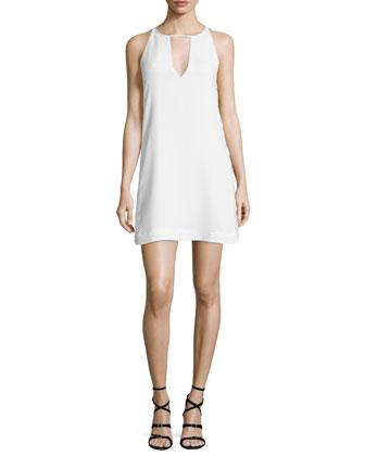 Riviera Sleeveless Mini Dress, Pearl