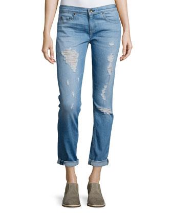Dre Distressed Cuffed Jeans, Rosslyn