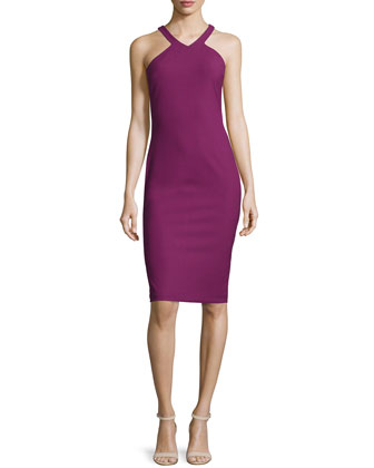 Edi V-Neck Sheath Dress, Grenadine