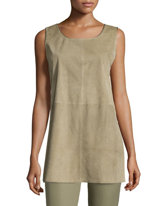 Ryder Sleeveless Suede Blouse