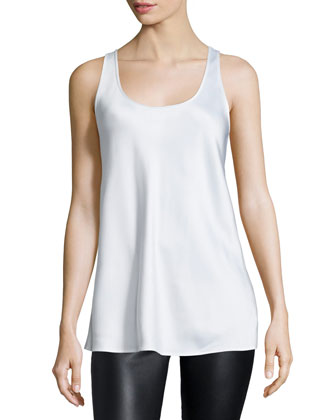 Scoop-Neck A-Line Tank, Optic White