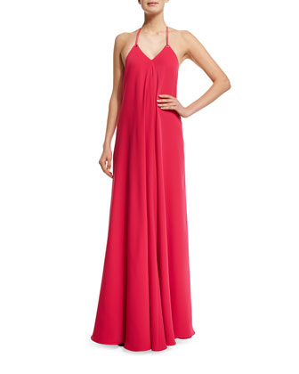 Halter Sleeveless Slip Gown