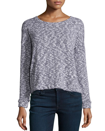 Lake Front Long-Sleeve Sweater, Plum