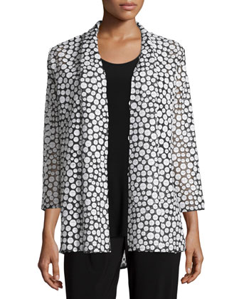 Bubble Mid-Length Cardigan