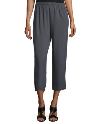 Lightweight Jersey Ankle Pants, Graphite
