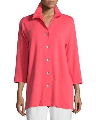 Ruched-Collar Shirt, Women's