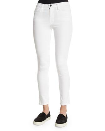 DENIM Le High Skinny Jeans, White