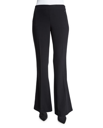 Marg Flare-Leg Pants, Black