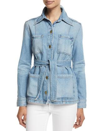 DENIM Le Patch Pocket Denim Jacket & Le High Skinny Jeans
