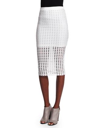 Eyelet Jacquard Tank & Pencil Skirt