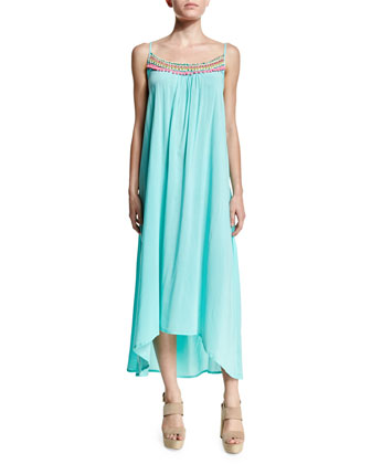 Splice & Dice Embroidered Maxi Dress