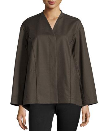 Medea Placket-Front Topper Jacket