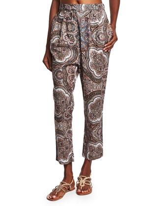 Epoque Paisley-Print Lounge Pants