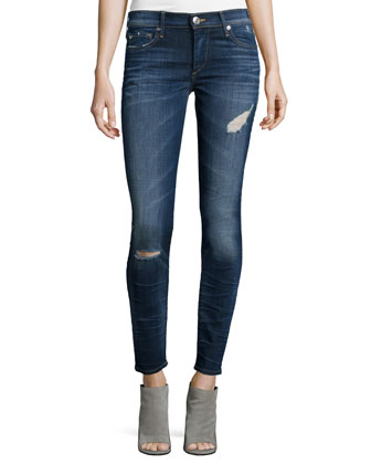 Halle Super-Skinny Jeans, Dark Authentic Indigo