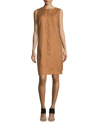 Mira Sleeveless Shift Dress, Cumin