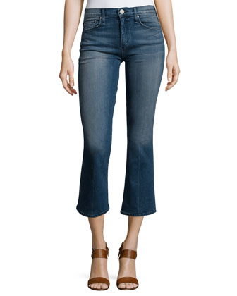 Majorelle Flare-Leg Cropped Jeans, Jaques