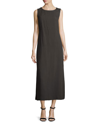 Gyldan Sleeveless Midi Dress, Granite