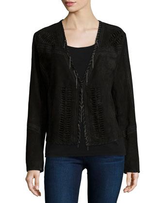 Rhea Cutout Suede Jacket