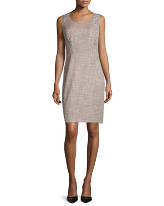 Ayiana Sleeveless Sheath Dress, Hickory/Multi