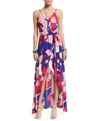Egypt Floral-Print Sleeveless Maxi Dress, Toscana
