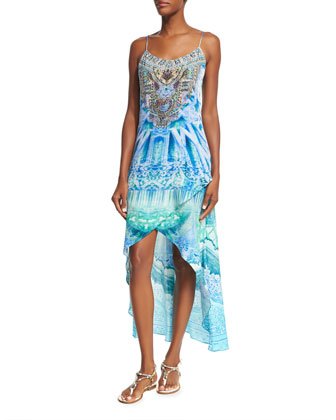 Embellished Coverup Dress, Multi Colors