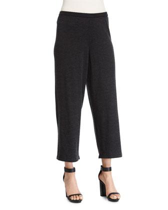 Merino Jersey Cropped Pants, Petite
