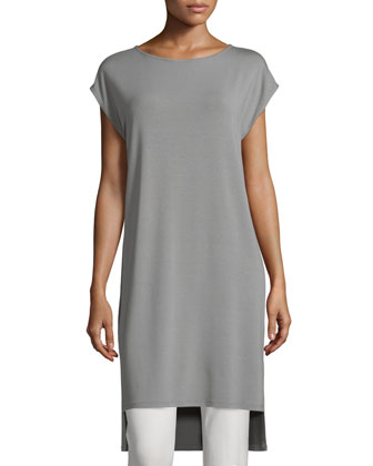 Short-Sleeve Jersey Tunic/Dress