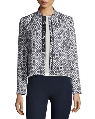 Textured Burlap Jacket