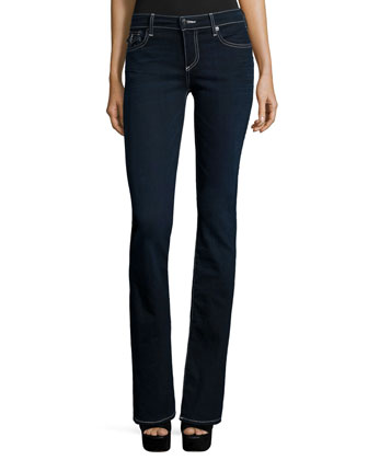 Becca Mid-Rise Boot-Cut Jeans, Painful Love