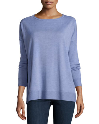 Classic Long-Sleeve Box Top, Petite