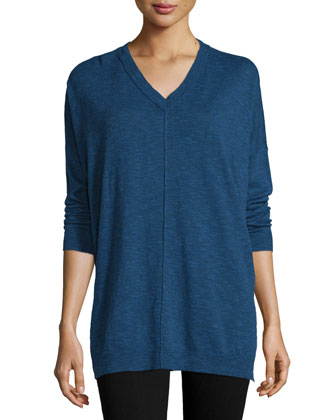 Classic V-Neck Box Top, Women's