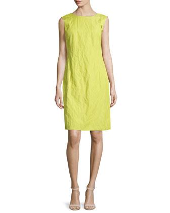 Paige Sleeveless Shift Dress, Agave