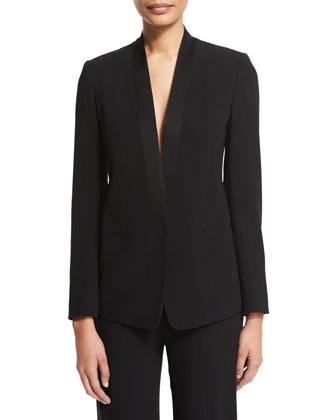 Tuxedo Jacket with Satin Lapel