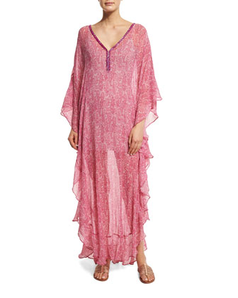 Sirmic Long-Sleeve Printed Maxi Dress, Janeiro