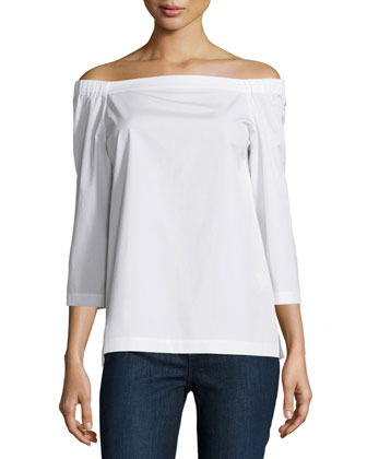 Vinata Sartorial Off-The-Shoulder Top