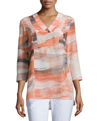 Zelah Silk Printed Blouse