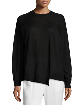 Lightweight Asymmetric Merino Sweater