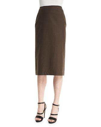 Priscilla Pencil Skirt, Granite