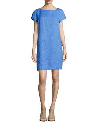 Washable Linen Shift Dress