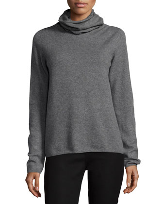 Cashmere Turtleneck Sweater, Gray