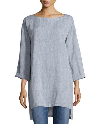 Long Yarn-Dye Tunic, Women's