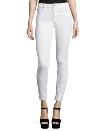 The Skinny Ankle Jeans, White