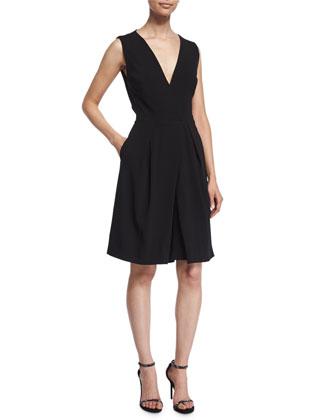 Sleeveless Midi Jumpsuit W/Pockets, Black