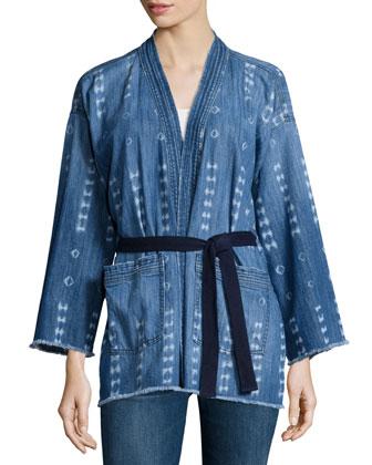 The Kimono Denim Jacket, Kyoto Print