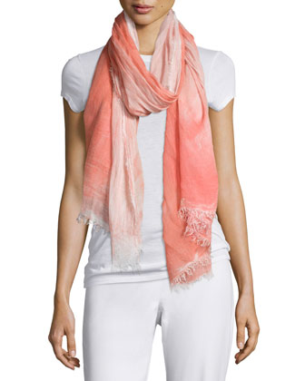 Hand-Dyed Modal/Silk Ombre Scarf