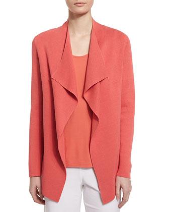 Open Interlock Jacket, Flora, Women's