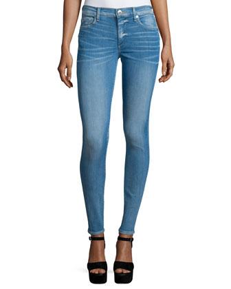Halle Super-Skinny Jeans, Neptune Blue