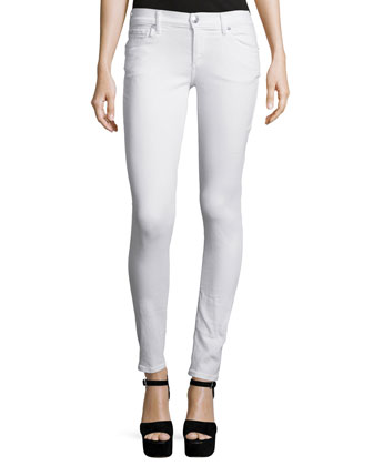 Casey Super-Skinny Ankle Jeans, Optic White